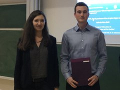 Prof. Dr. Swetlana Schauermann with Jan Degenhardt (right).